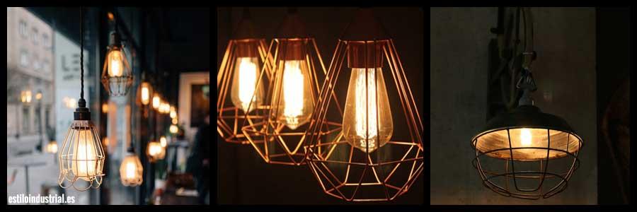 Lámparas de estilo industrial vintage