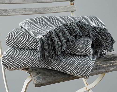 Manta para sofá en tono gris